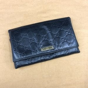 GG185 Guccissima Long Wallet